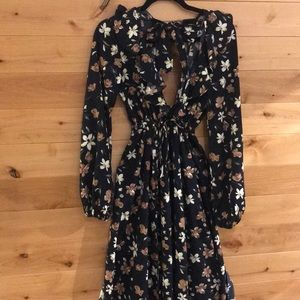 Maxi dress with four splits at the bottom